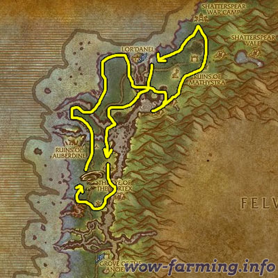 Farming Peacebloom and Silverleaf in Darkshore