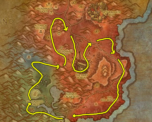 Leveling Herbalism in the Blasted Land
