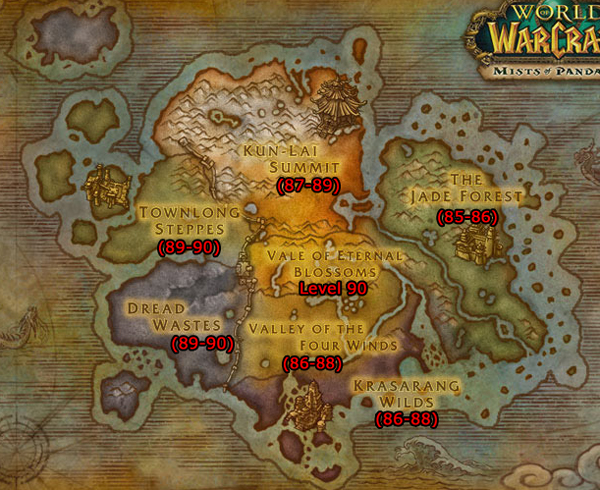 Leveling in Mists of Pandaria